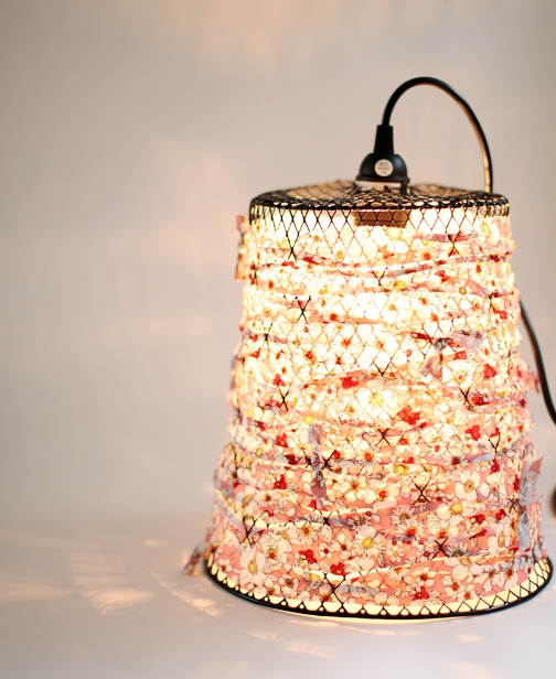 reuse and recycle: light from trash.