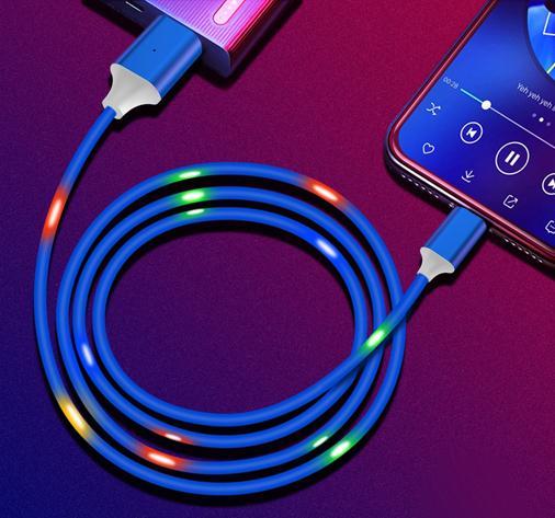 Светодиодный USB кабель для быстрой зарядки мобильного телефона