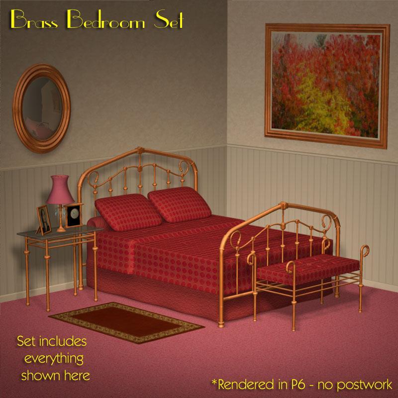 Brass Bedroom Set