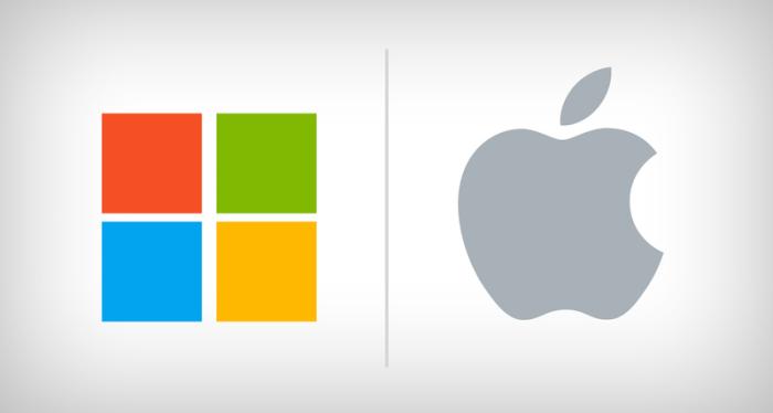 Apple стала ценнее Microsoft