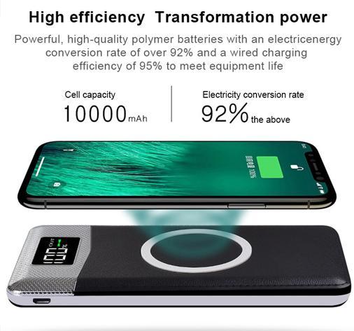 Беспроводное зарядное устройство power Bank 10000 мАч