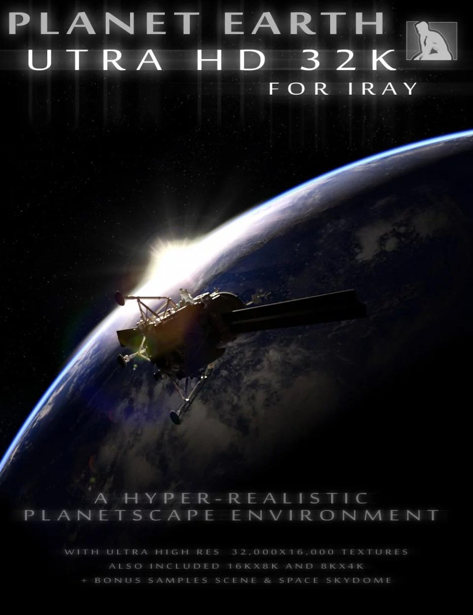 Planet Earth UTRA HD 32K for Iray