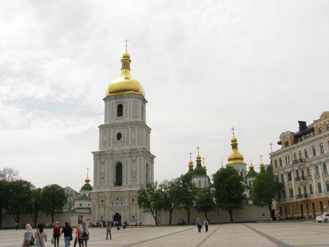 Софийская площадь и экскурсия на колокольню Софийского собора в Киеве