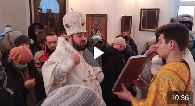 Освящение часовни святителя Василия Великого в селе Саконы Алексеевского района
