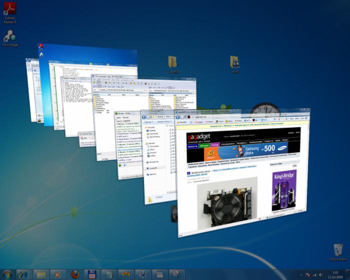 3D окна в Windows 7 или удобный просмотр
