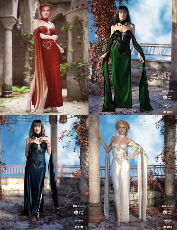 dForce Fantasy Cape Outfit Bundle