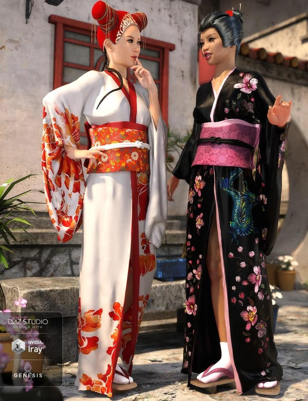 dForce Kimono Outfit Female