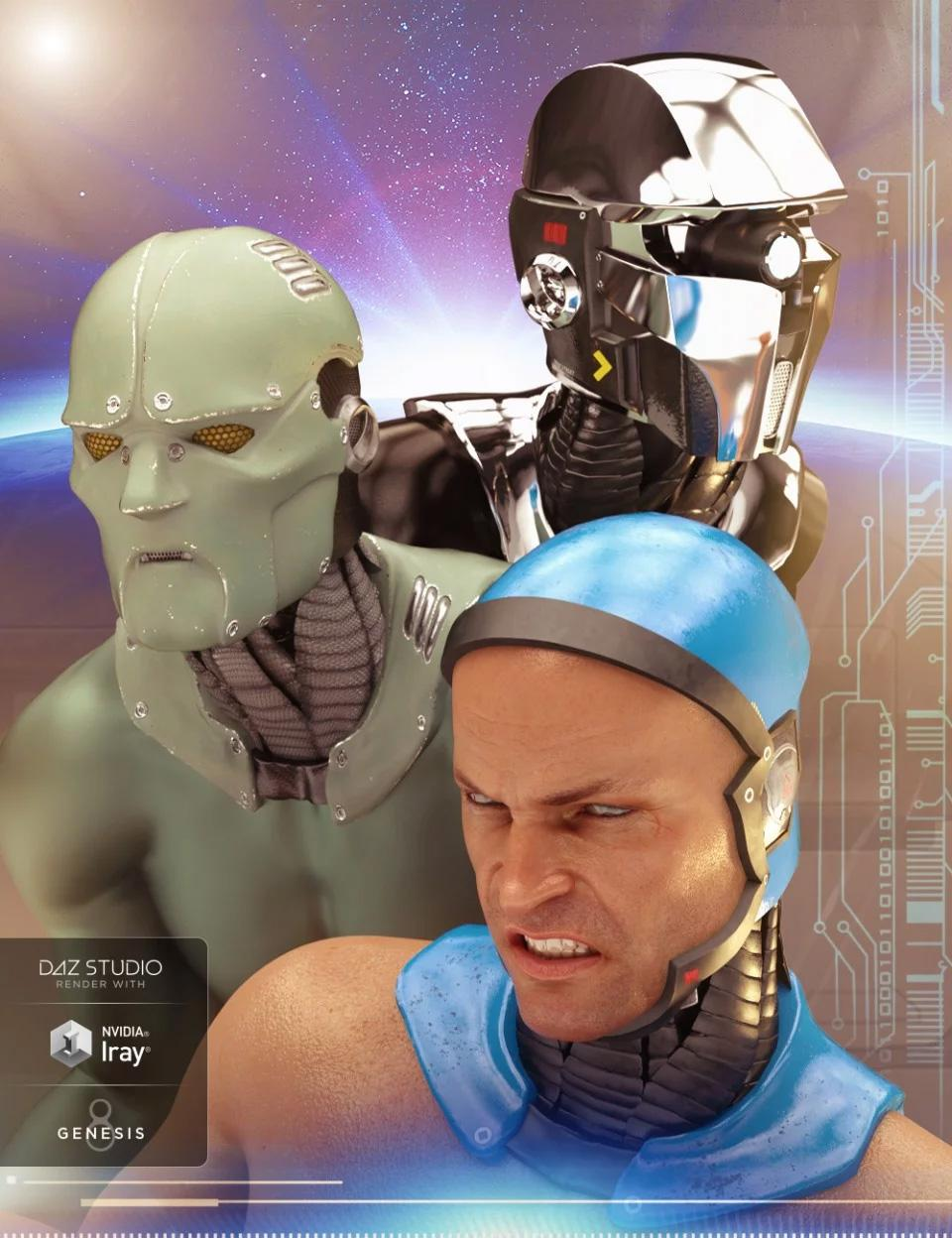 ArcWar Cybernetic Heads for Genesis 8 Male