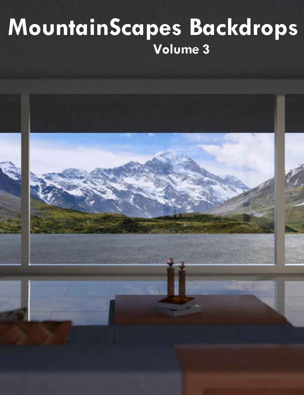 MountainScapes Backdrops Volume 3
