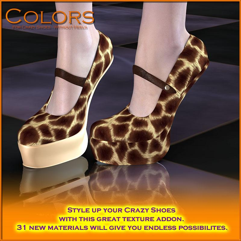 Colors for Crazy Shoes - Without Heels