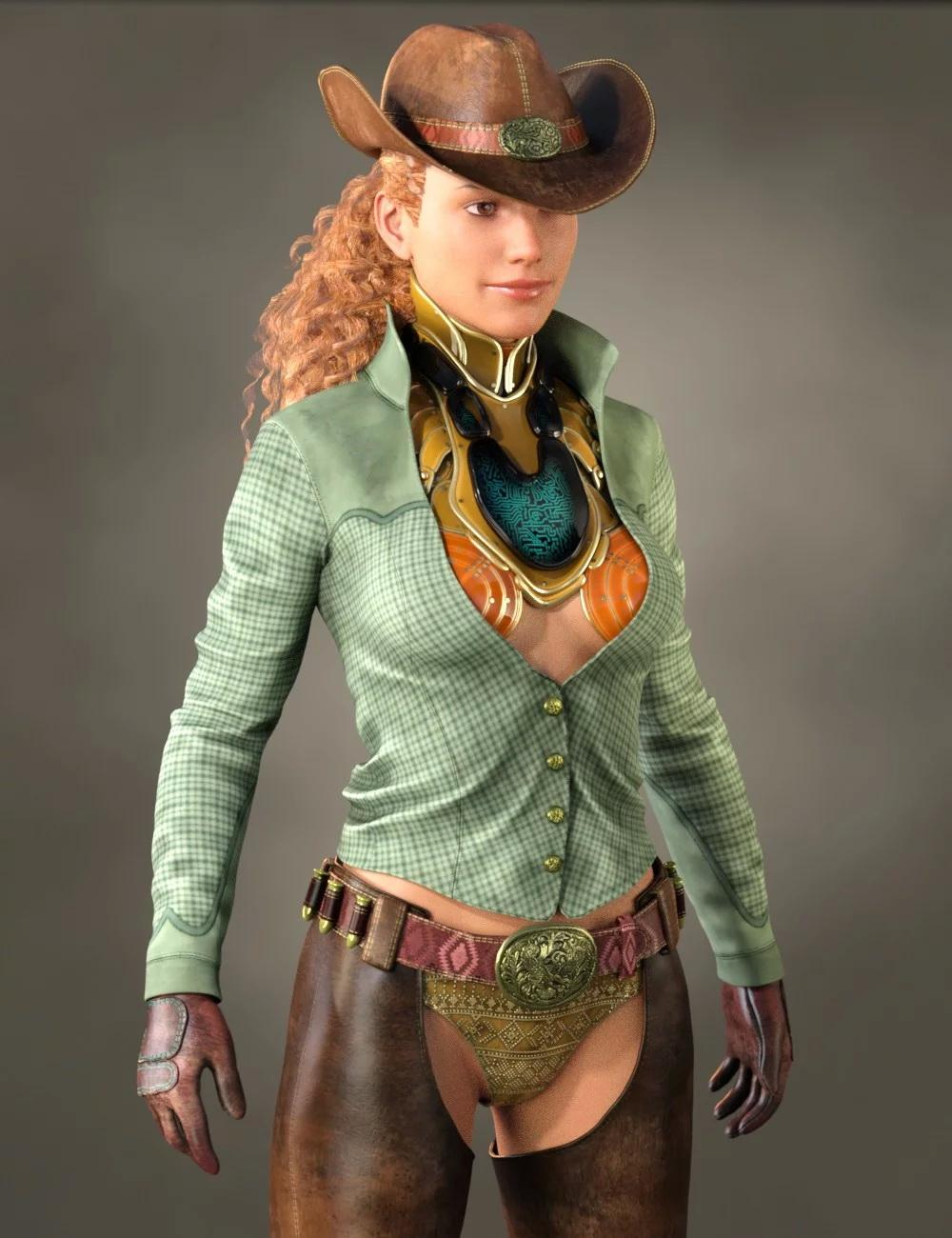 Cowgirl Sci-fi Outfit for Genesis 8 Female(s)