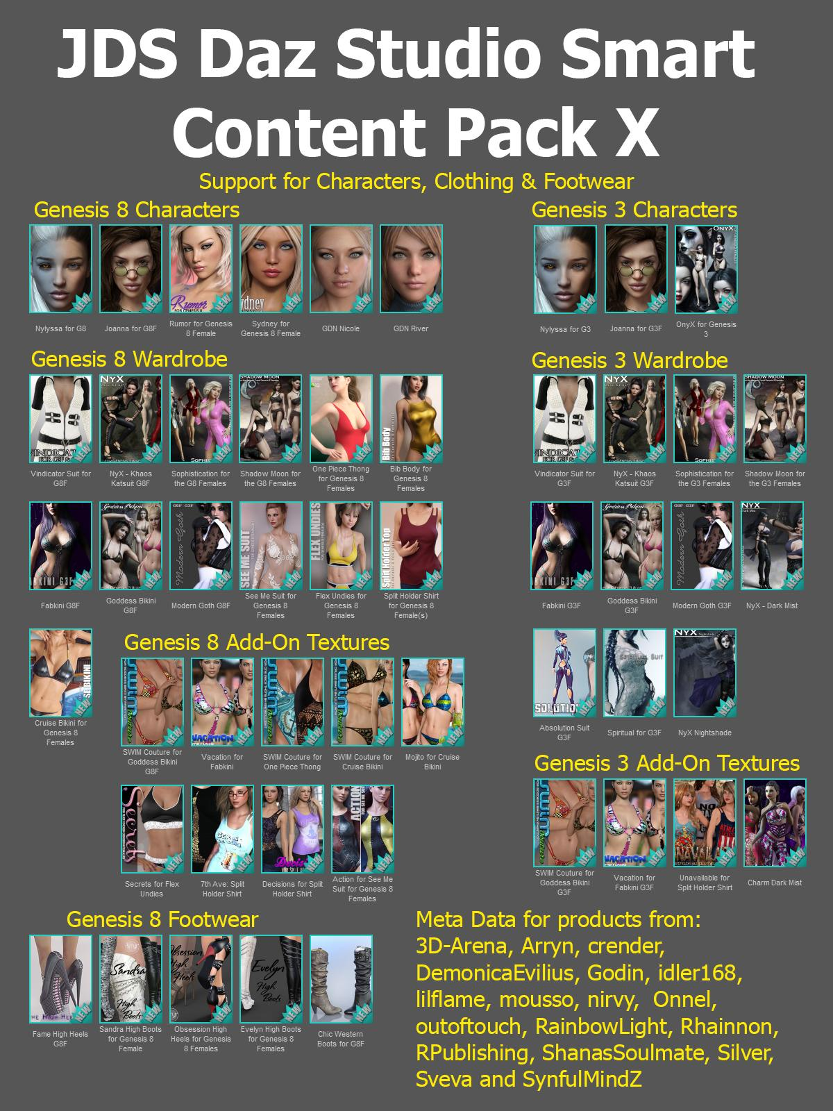 JDS Daz Studio Smart Content Pack X