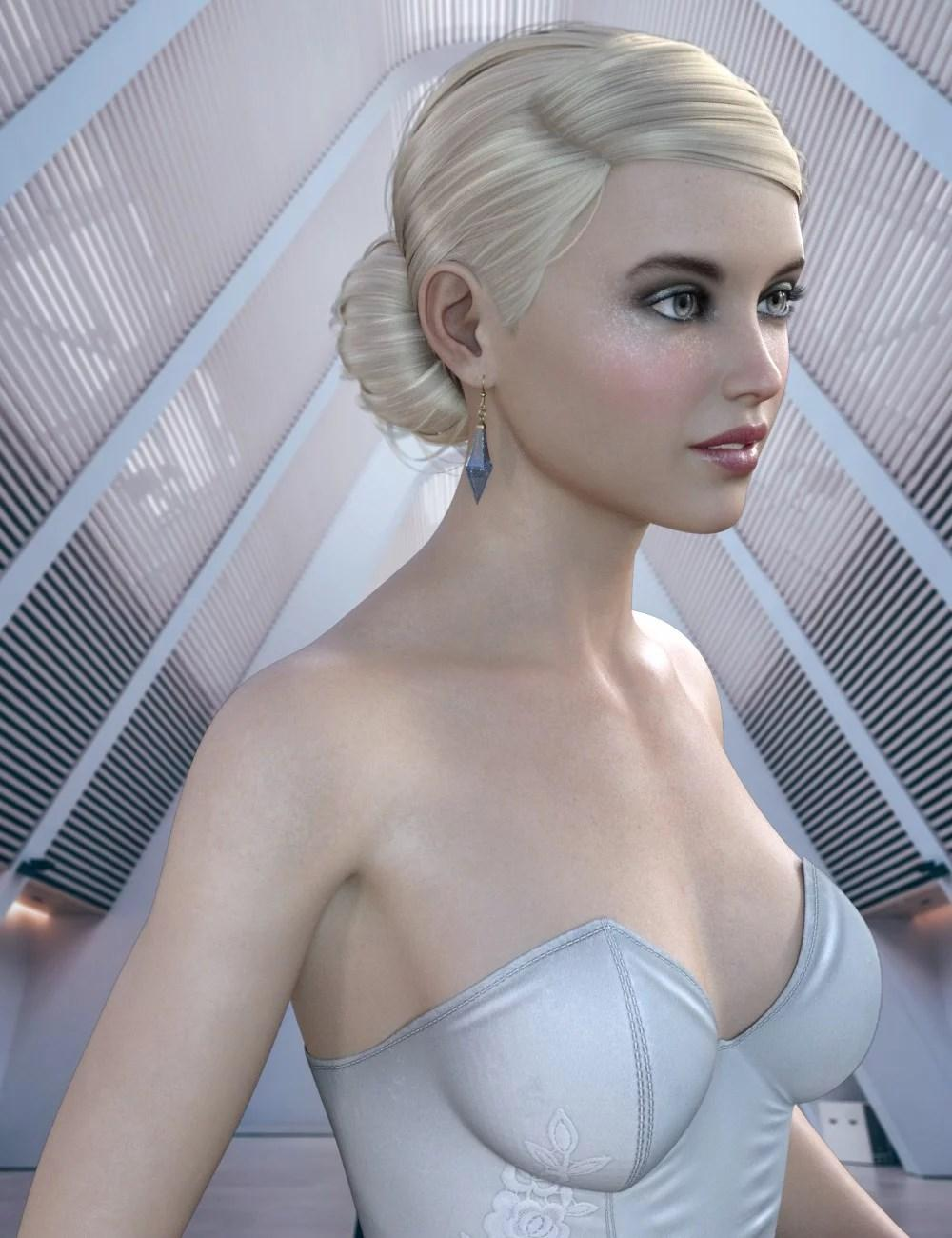 Adia Hair for CJ 8 and Genesis 8 Female(s)