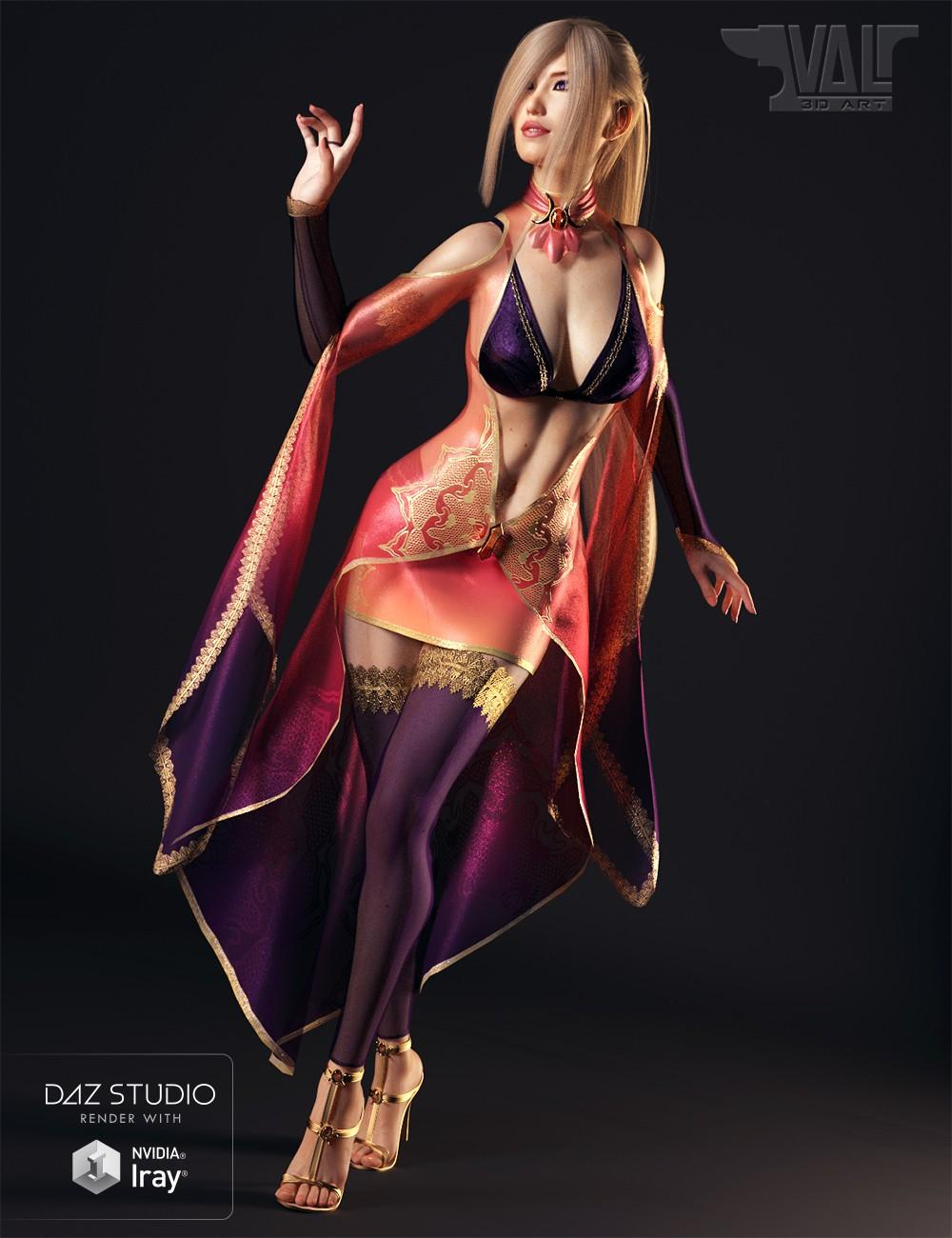dForce Twilight Sorceress Outfit for Genesis 8 Female(s)