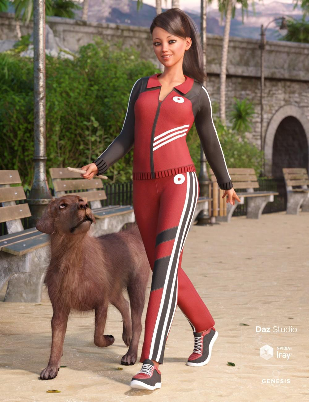Morning Walk Outfit for Genesis 8