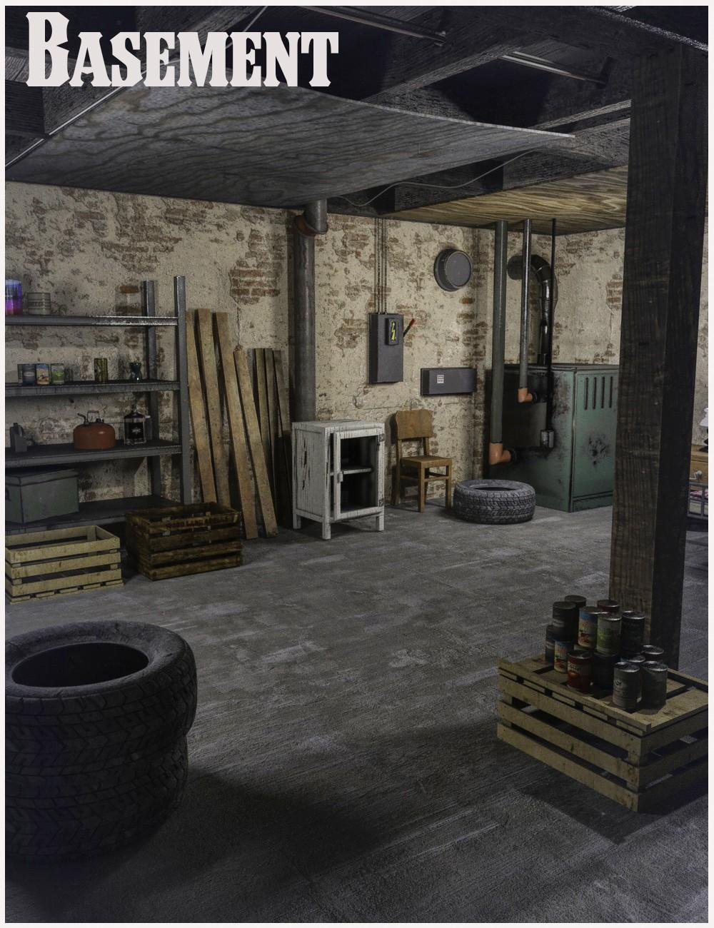 FG Dusty Basement With Poses For Genesis 8 Female(s)