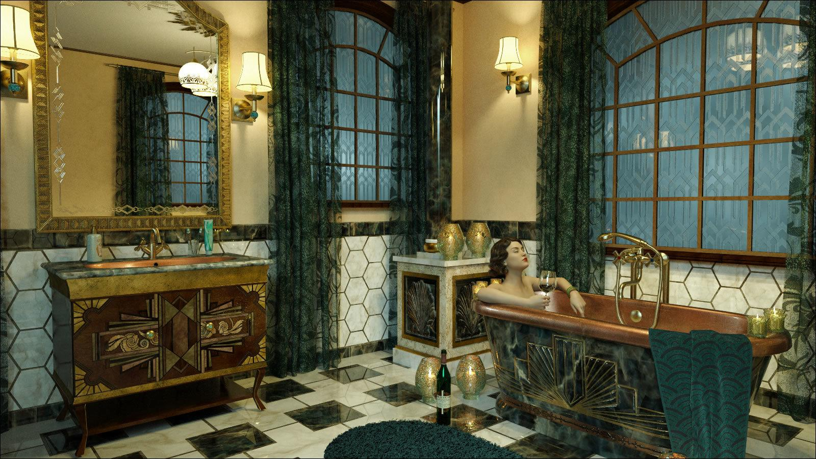 The Art Deco Bath