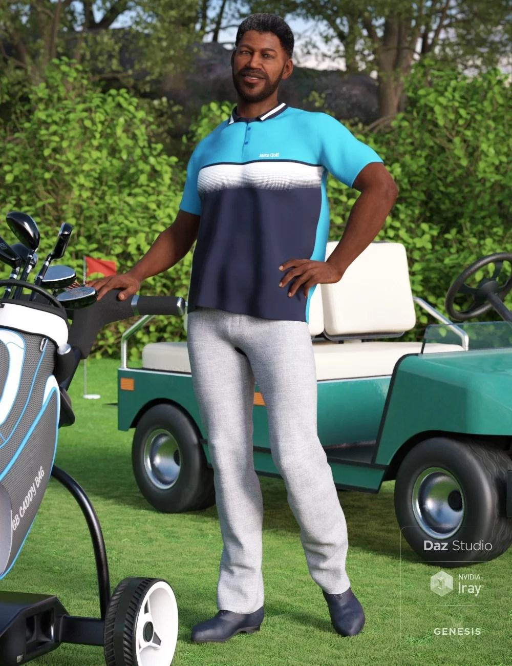 Casual Golf Outfit for Genesis 8 Male(s)