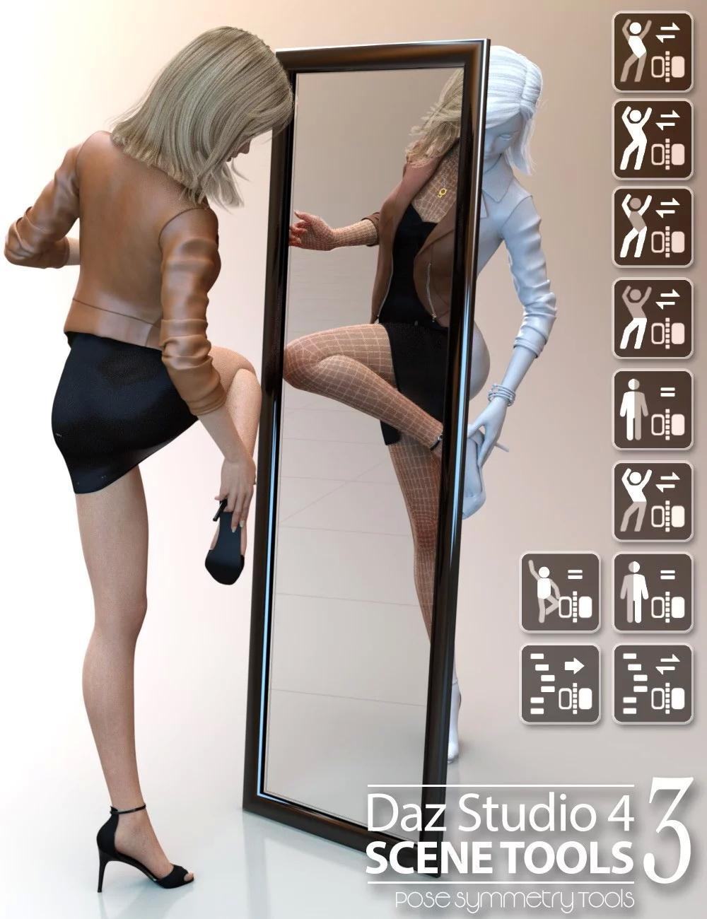 Daz Studio 4 Scene Tools Set 3 - Pose Symmetry