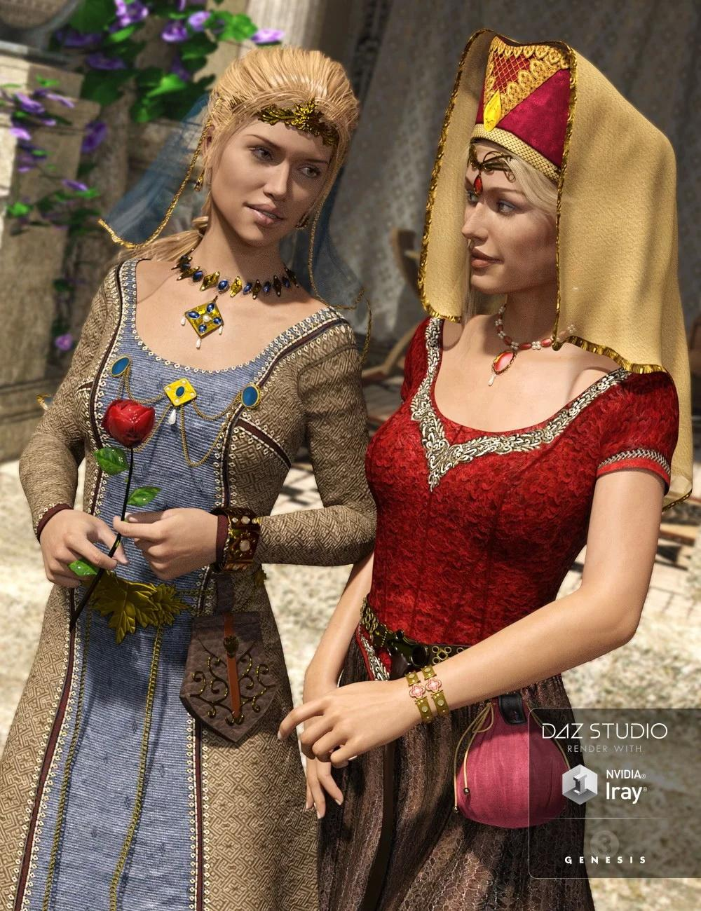 Medieval Fantasy Accessories for Genesis 3 Female(s)