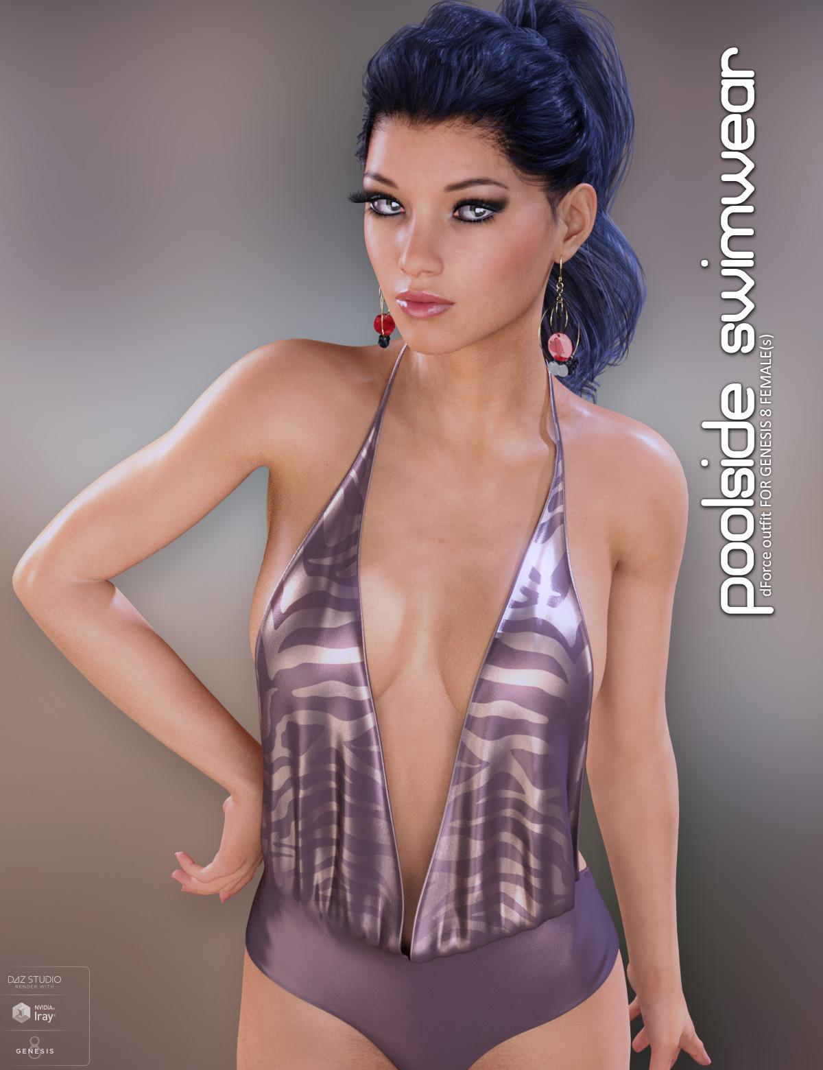 dForce Poolside Swimwear for Genesis 8 Females