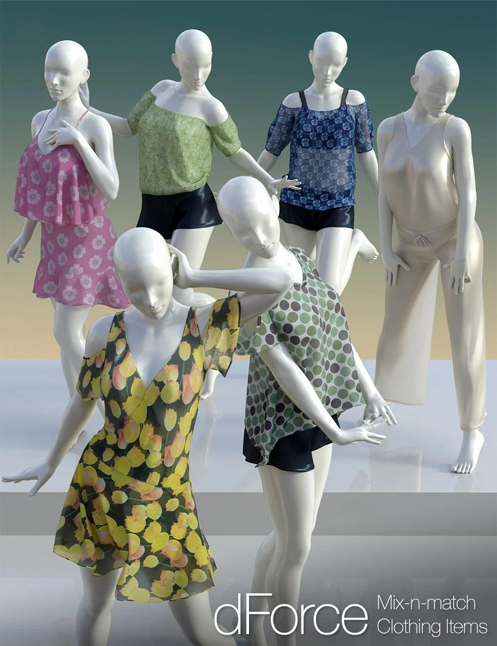dForce Clothing Set 02 for Genesis 8 Female(s