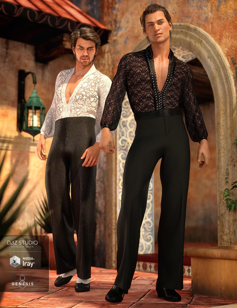 dForce Latin Dancer Outfit Textures