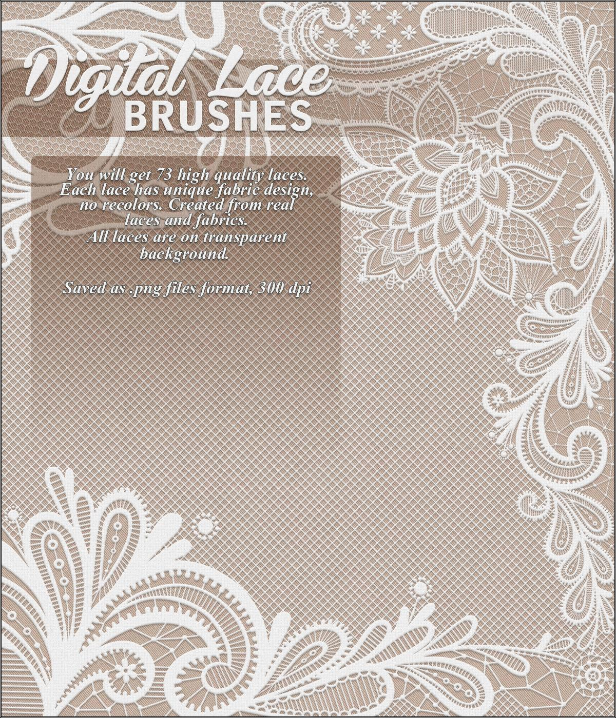 Digital Lace Brushes
