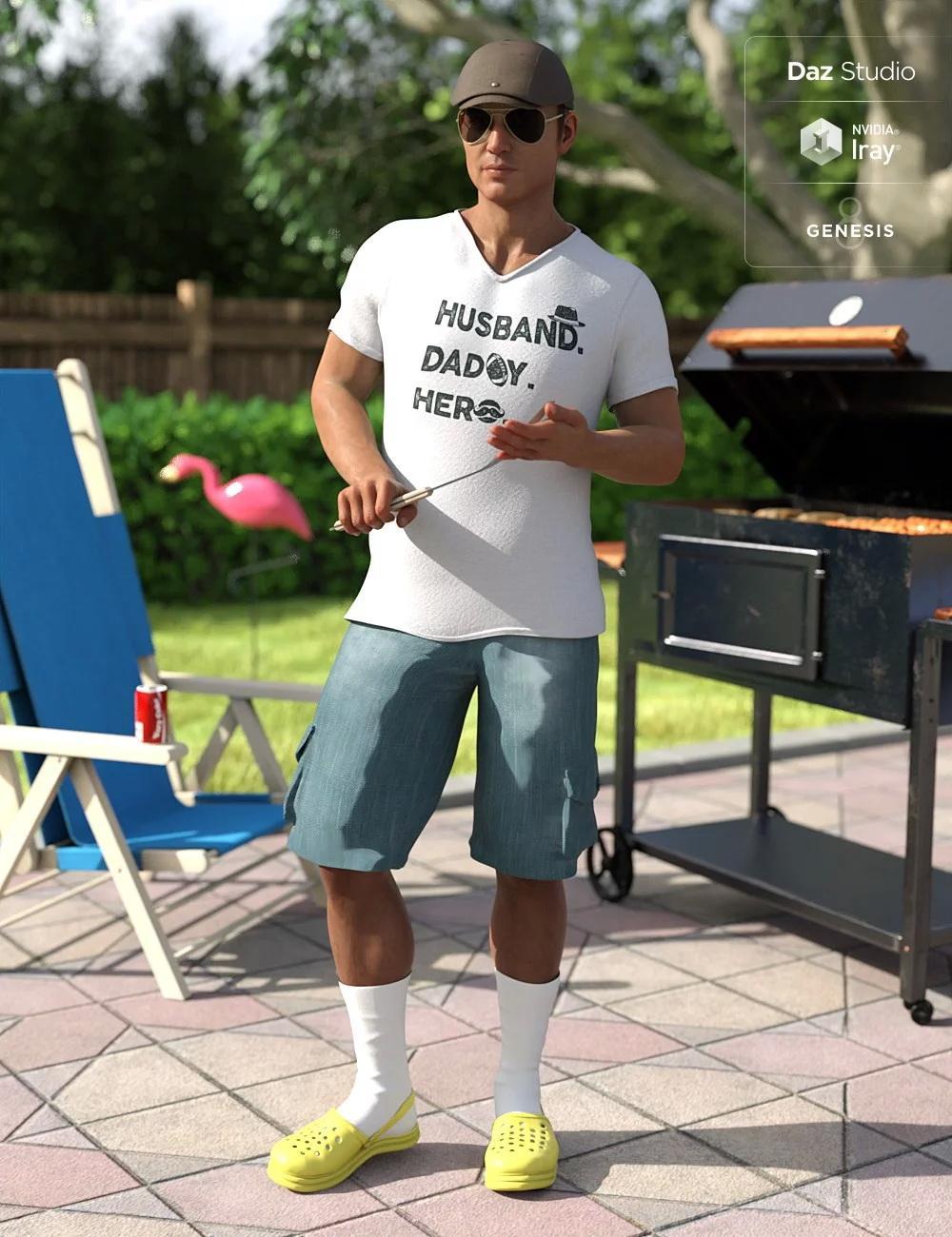 Socks In Krokz Outfit for Genesis 8 Male(s)
