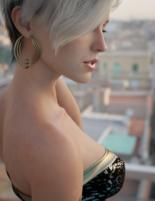 Natalie on the rooftop