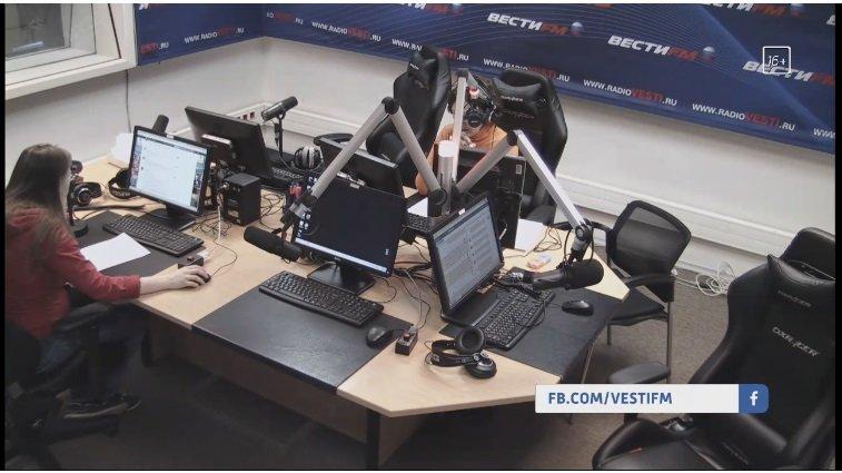 Кресло DXRACER серия Drifting в студии ВЕСТИ ФМ