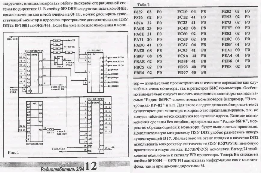 Радио-86РК: Расширение ОЗУ ExtendedRAM2.1557959130