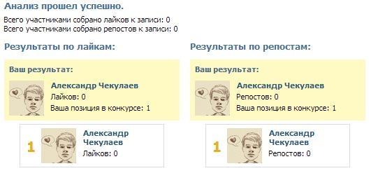Результаты работы вирусоанализатора ВКонтакте