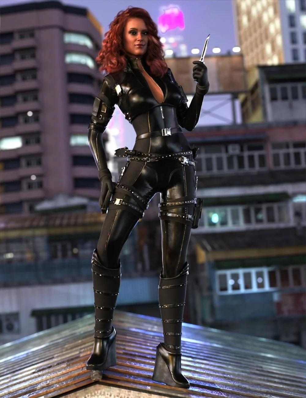 Trinity Wolf Outfit for Genesis 8 Female(s)