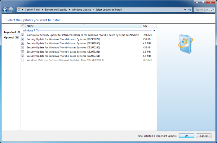 Microsoft выпускает KB4480955 для Windows 7