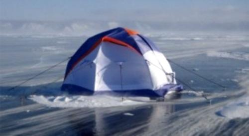 Размещаем палатку на льду