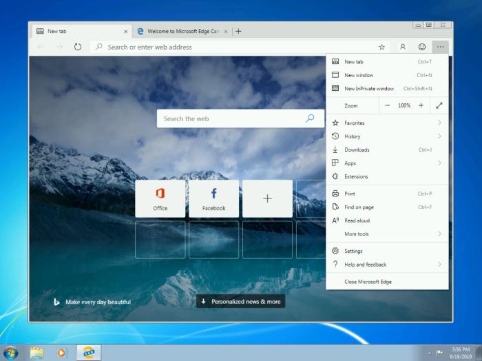 Microsoft выпускает Microsoft Edge Dev для Windows 7 и 8.1