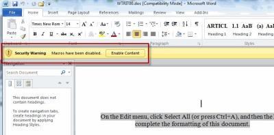 Microsoft Word используется для заражения вирусами в Windows