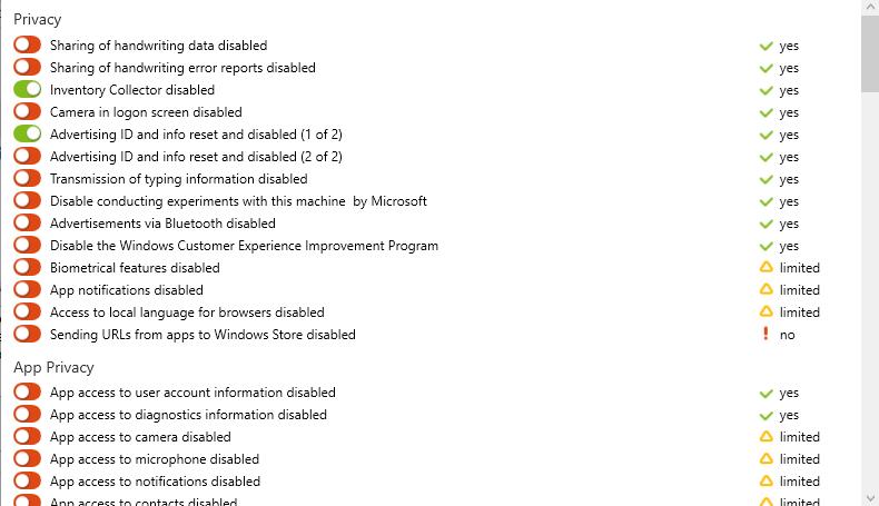 O&O ShutUp10++ для полного управления конфиденциальностью в Windows 11