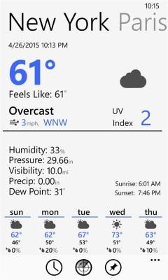 Одно из лучших приложений погоды Windows Phones прощается с ОС