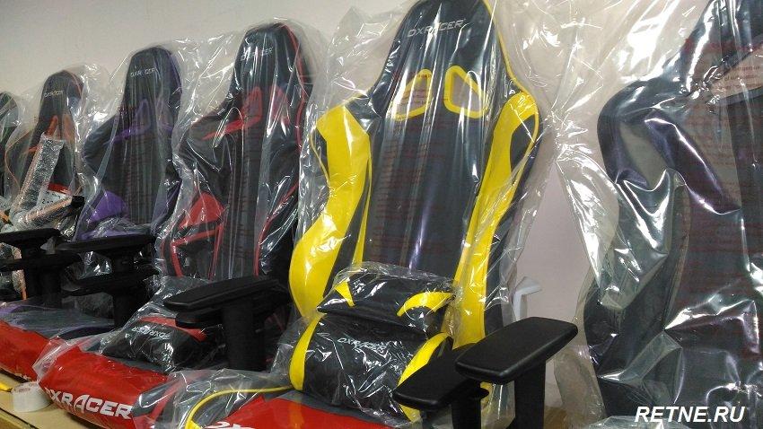 компьютерное кресло DXRacer OH/RE0/NY (жёлтое)