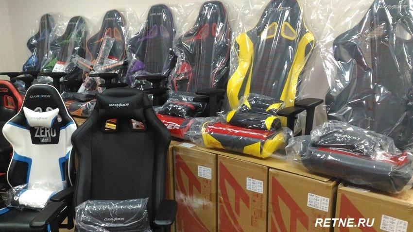 Игровое кресло  DXRacer OH/RE0/NY (Жёлтый )