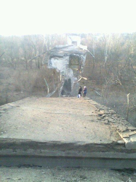 Террористы полностью разрушили мост через Северский Донец в Станице Луганской, - Москаль - Цензор.НЕТ 5157