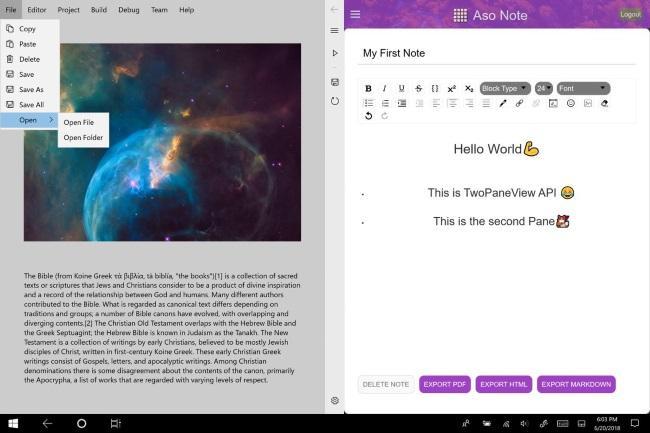 Приложения для Microsoft Andromeda