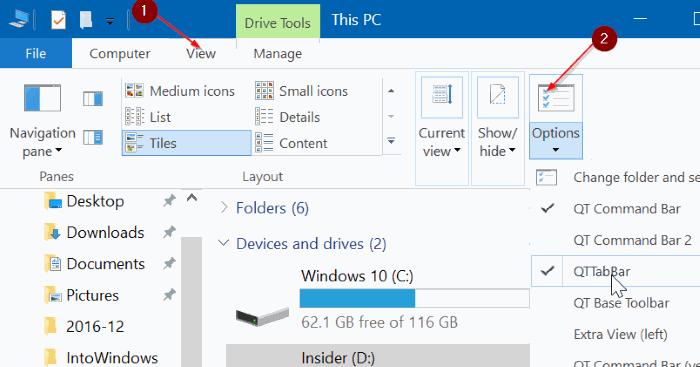 QTTabBar для Windows 10