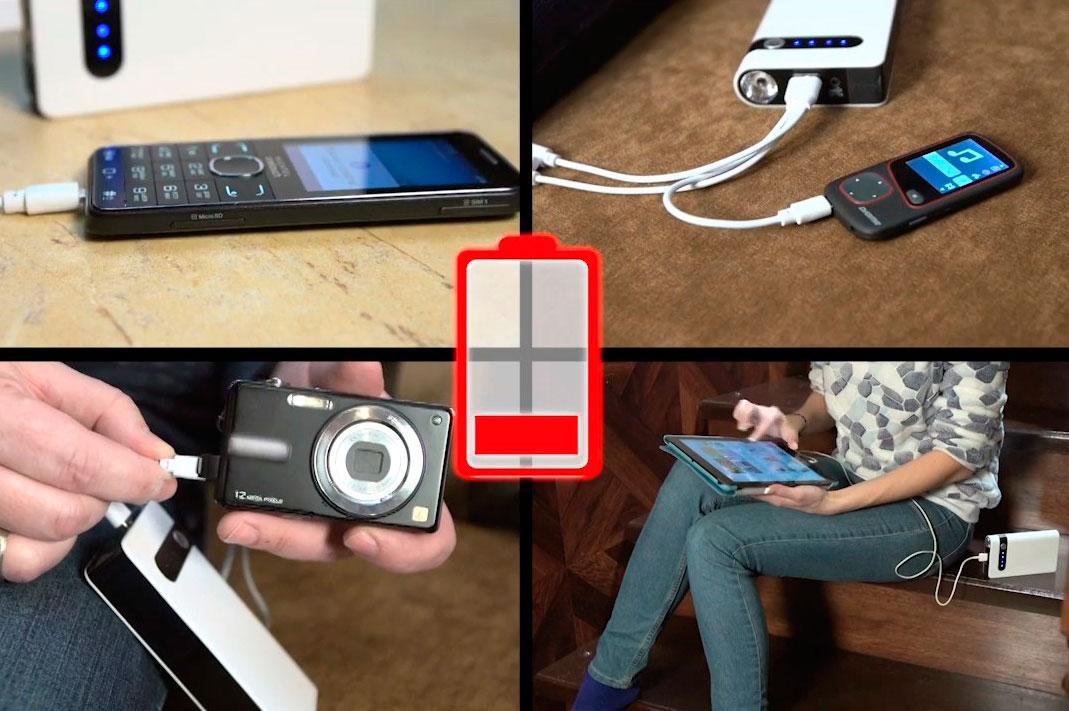 Пуско зарядное устройство может заряжать телефон/смартфон, планшет или фотокамеру