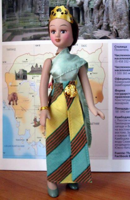 Куклы в Костюмах Народов Мира №39 - Камбоджа
