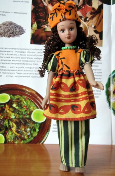 Куклы в Костюмах Народов Мира №36 - Сенегал