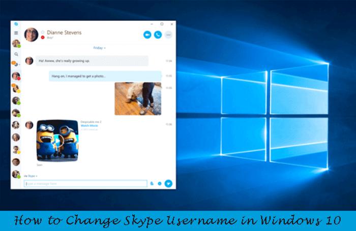 Как изменить имя пользователя Skype в Windows 10