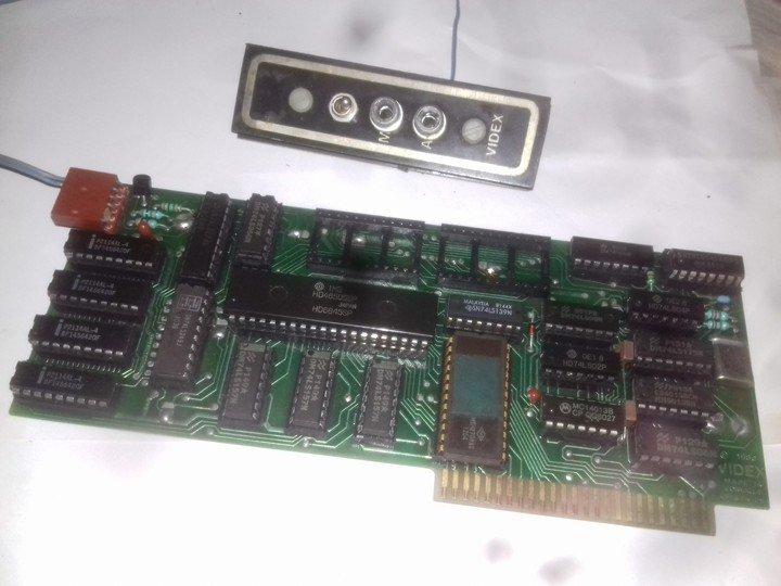 Сборка и настройка платы Apple-II Videxvideocard.1546923506